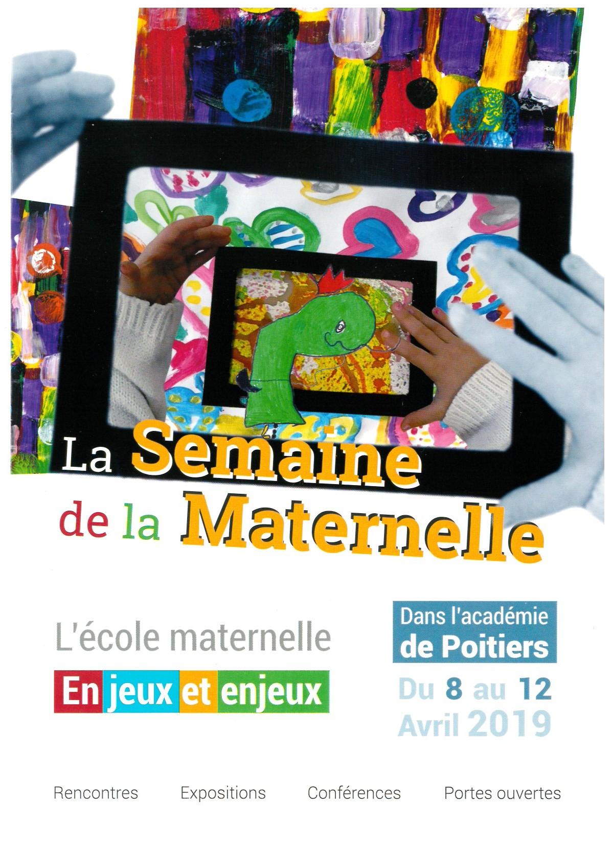 Semaine De La Maternelle Du 8 Au 12 Avril 2019 Pédagogie